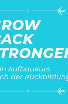 türkise Kachel mti Schrift Grow Back Stronger