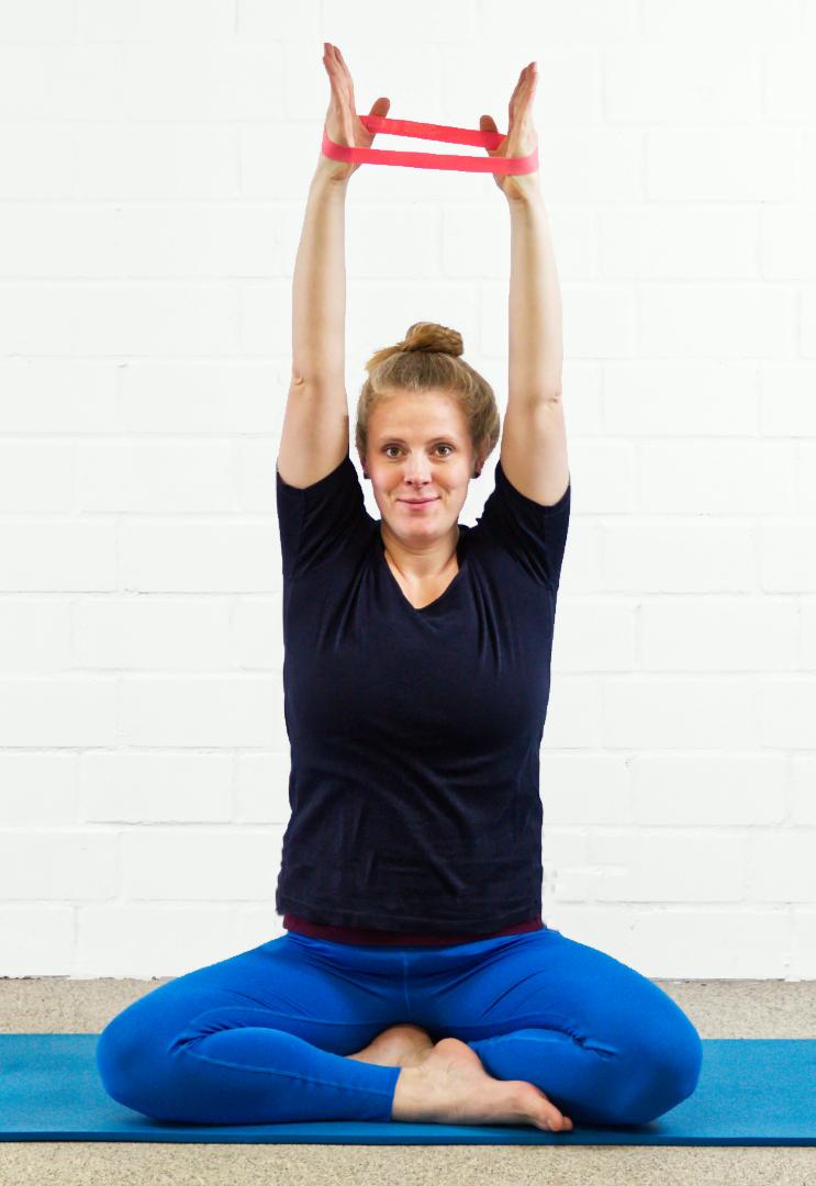 Übung mit Gymnastikband